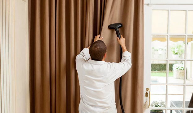 Откройте для себя комфорт — химчистку штор на дом